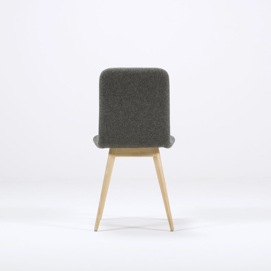 Gazzda Ena Dining Chair in whitened Oak and Felted Wool 5