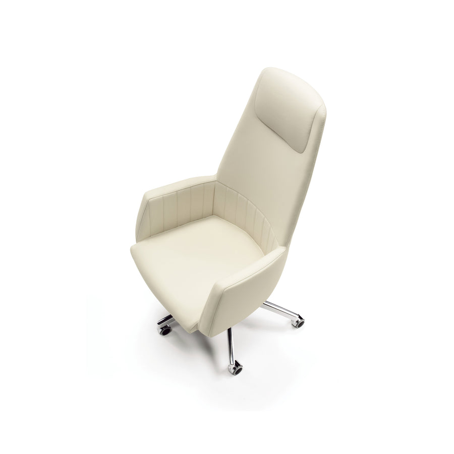 Tulip Canneté High Back Chair