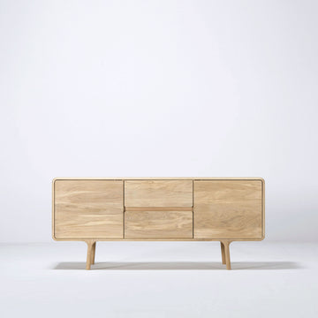 Gazzda Fawn Sideboard 150 in solid whitened Oak  | Spencer Interiors