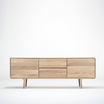 Gazzda Fawn Sideboard 180 in solid whitened Oak | Spencer Interiors