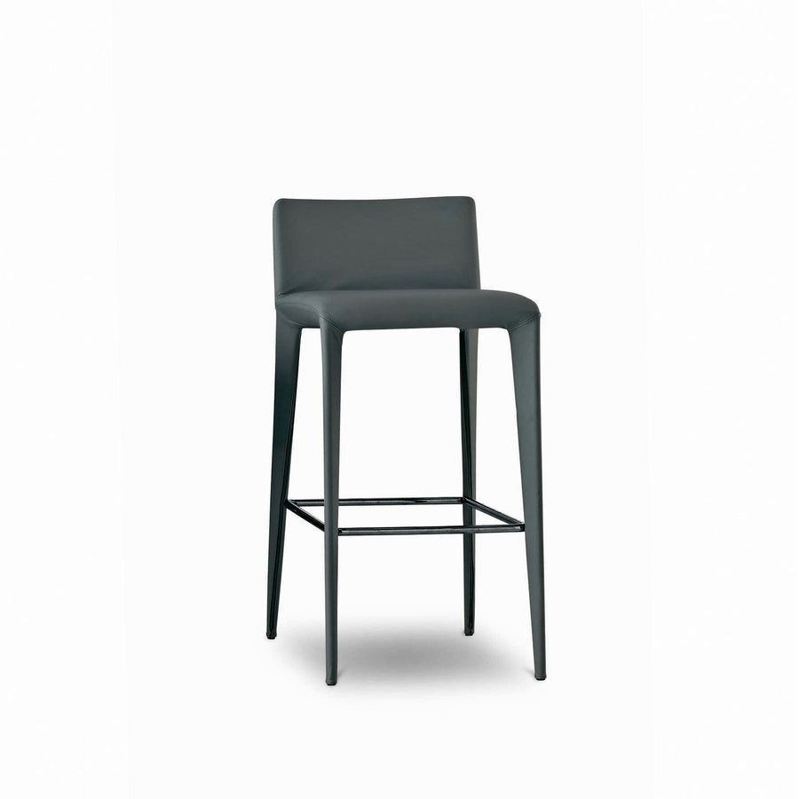 Bonaldo Filly Too Bar Stool 2 covered in Capri Leather, made in Italy