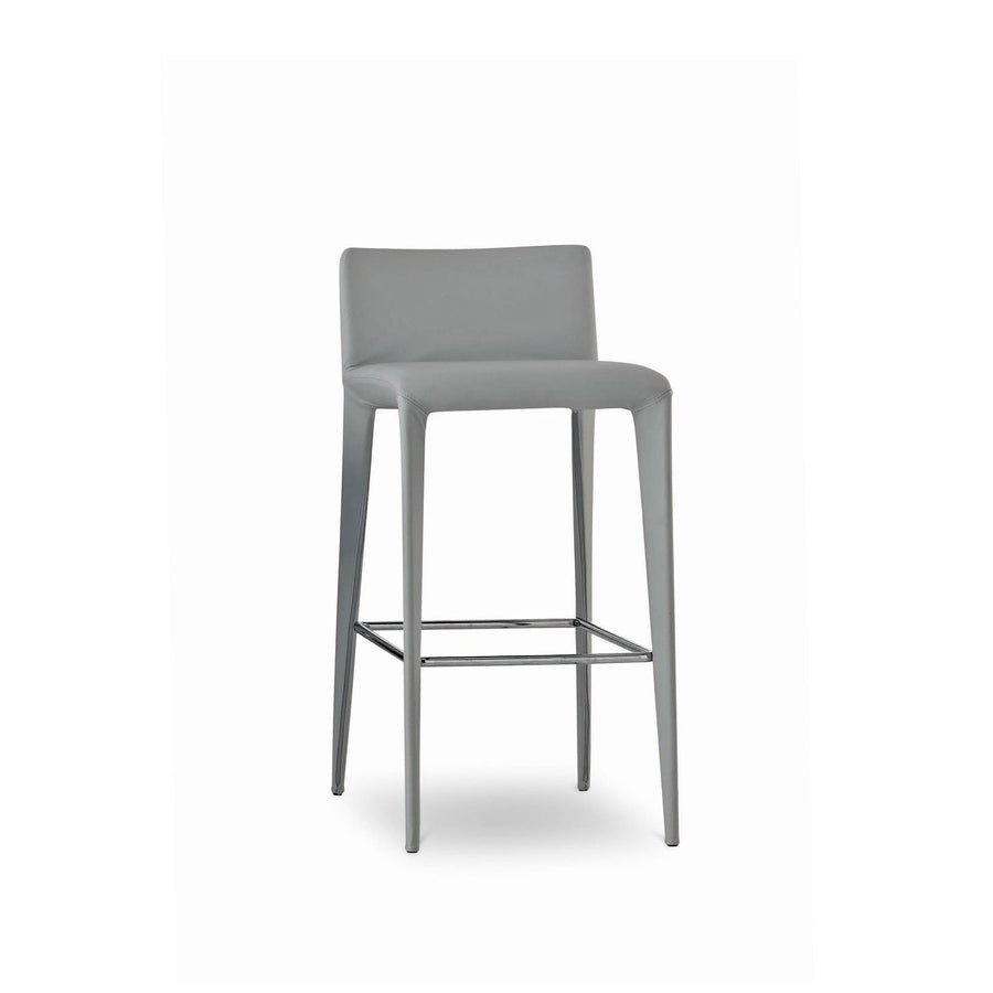 Bonaldo Filly Too Bar Stool covered in Capri Leather, made in Italy