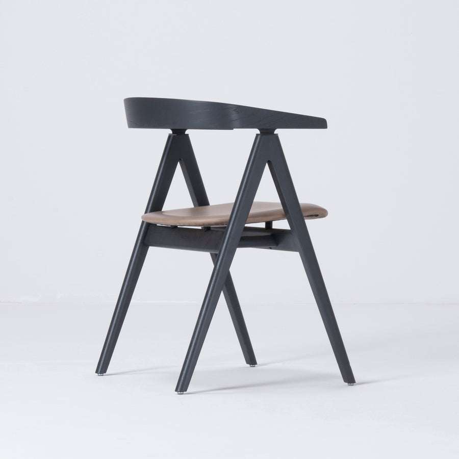 Gazzda Ava Chair in Black, Back turned