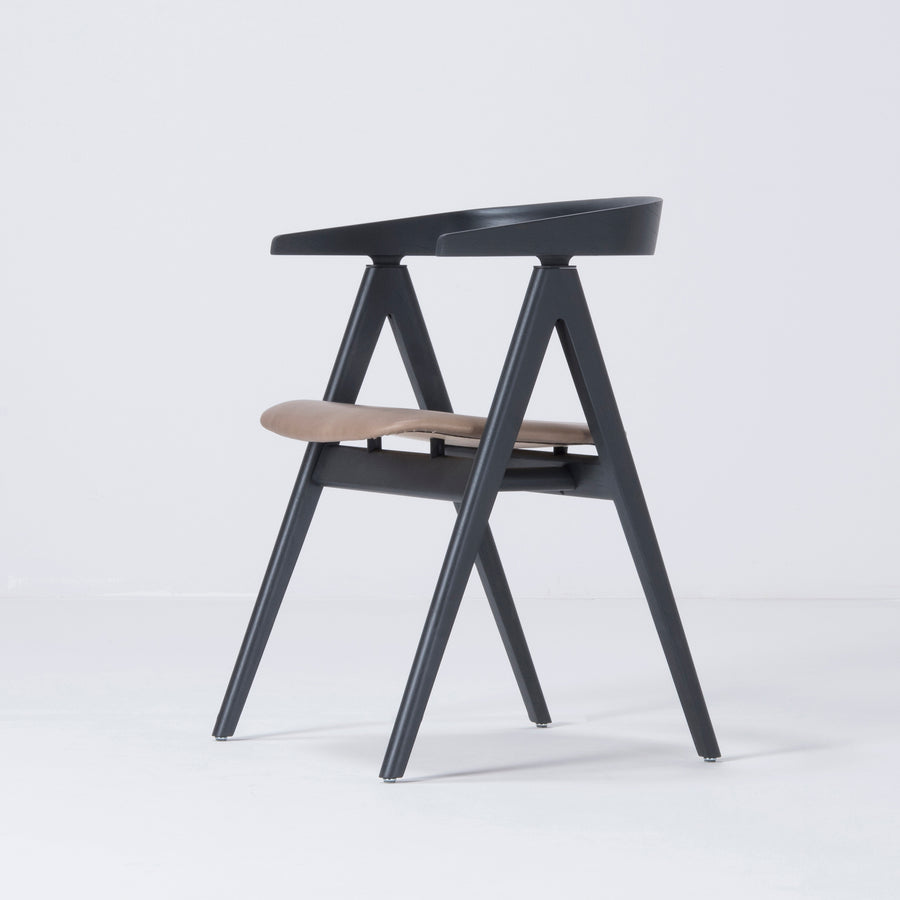 Gazzda Ava Chair in Black, profile turned