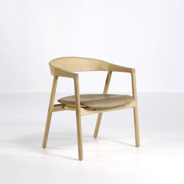 Gazzda Muna Lounge Chair in solid Oak - © Spencer Interiors