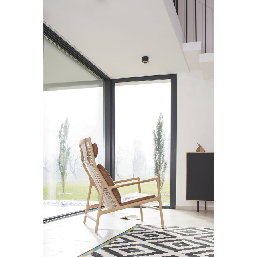 Gazzda Dedo Lounge Chair in solid Oak 6