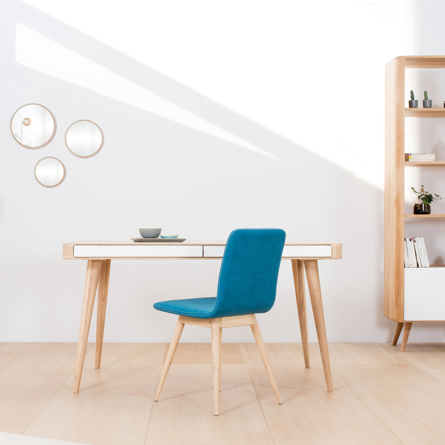 Gazzda Ena Dining Chair in whitened Oak and Felted Wool 8