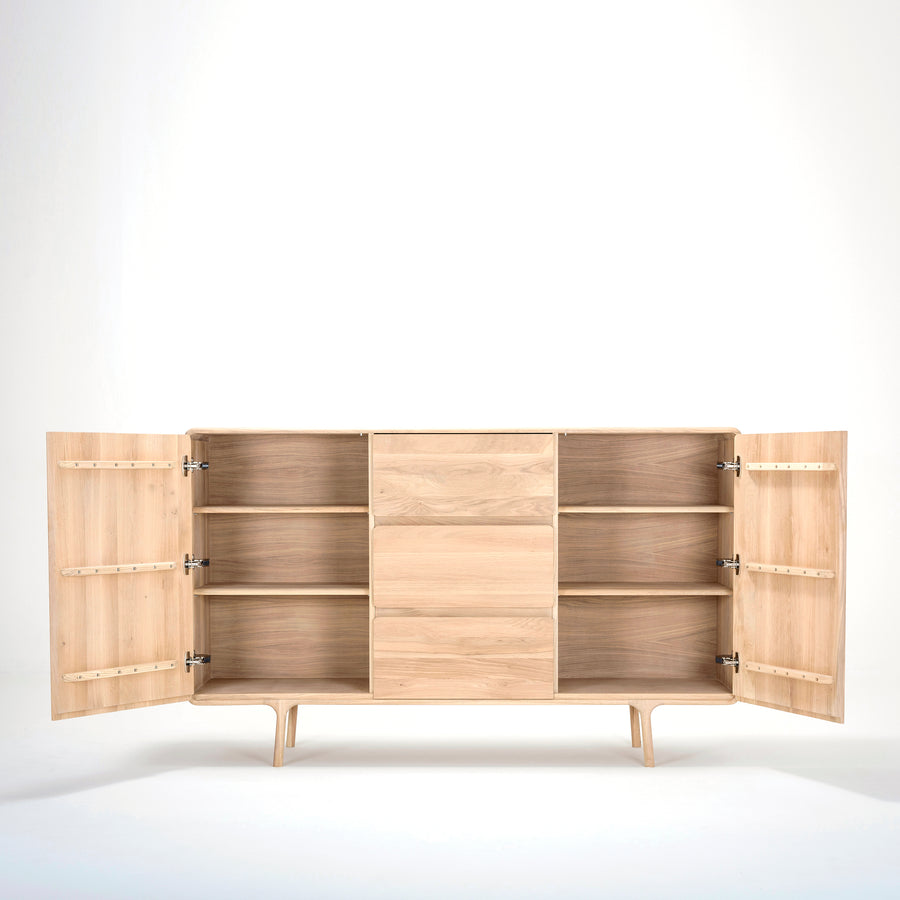 Gazzda, large Fawn Dresser in solid Oak | Spencer Interiors