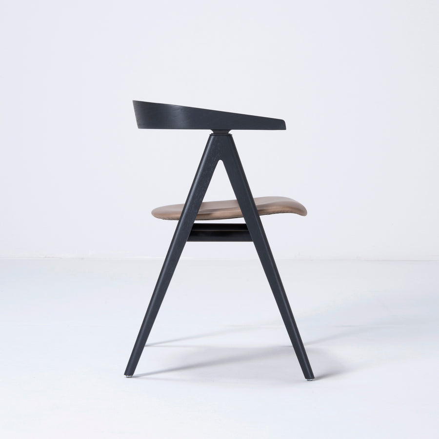 Gazzda Ava Chair in Black, Profile