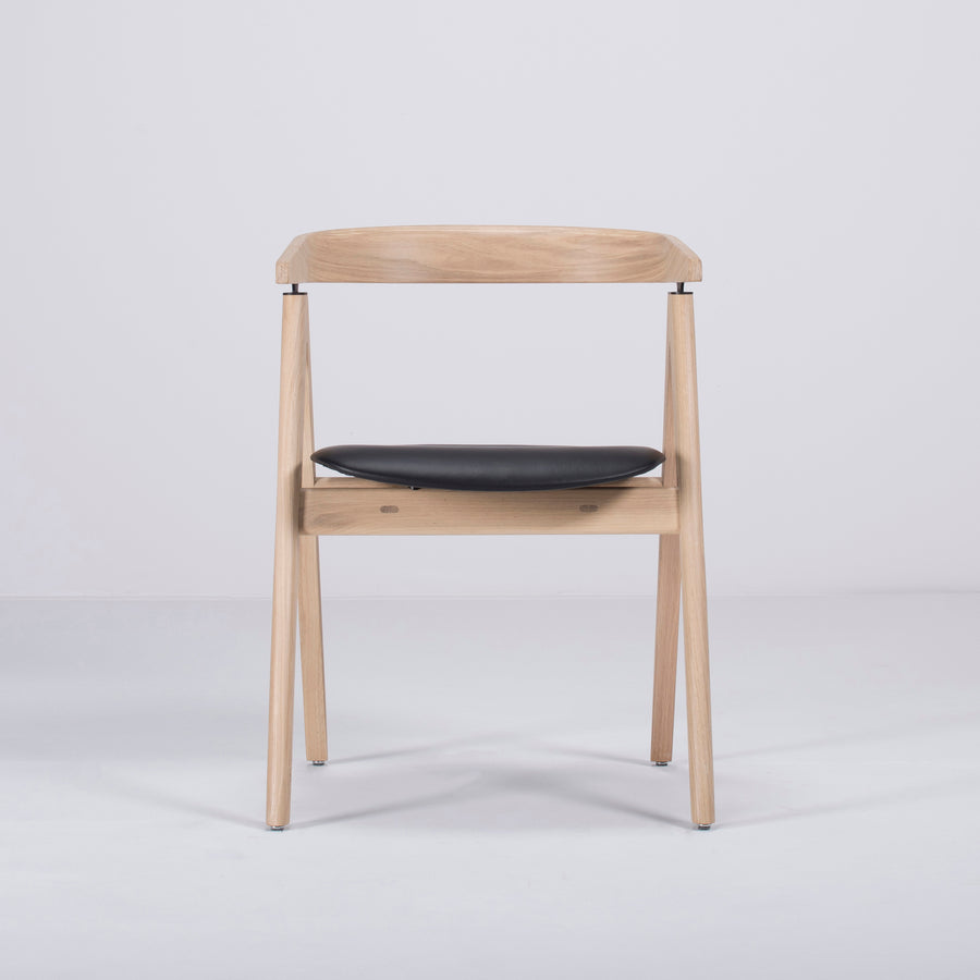 Gazzda Ava Chair in Whitened Oak, Front 2