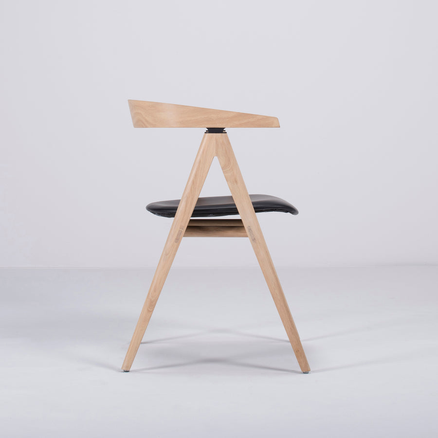 Gazzda Ava Chair in Whitened Oak, Profile 2