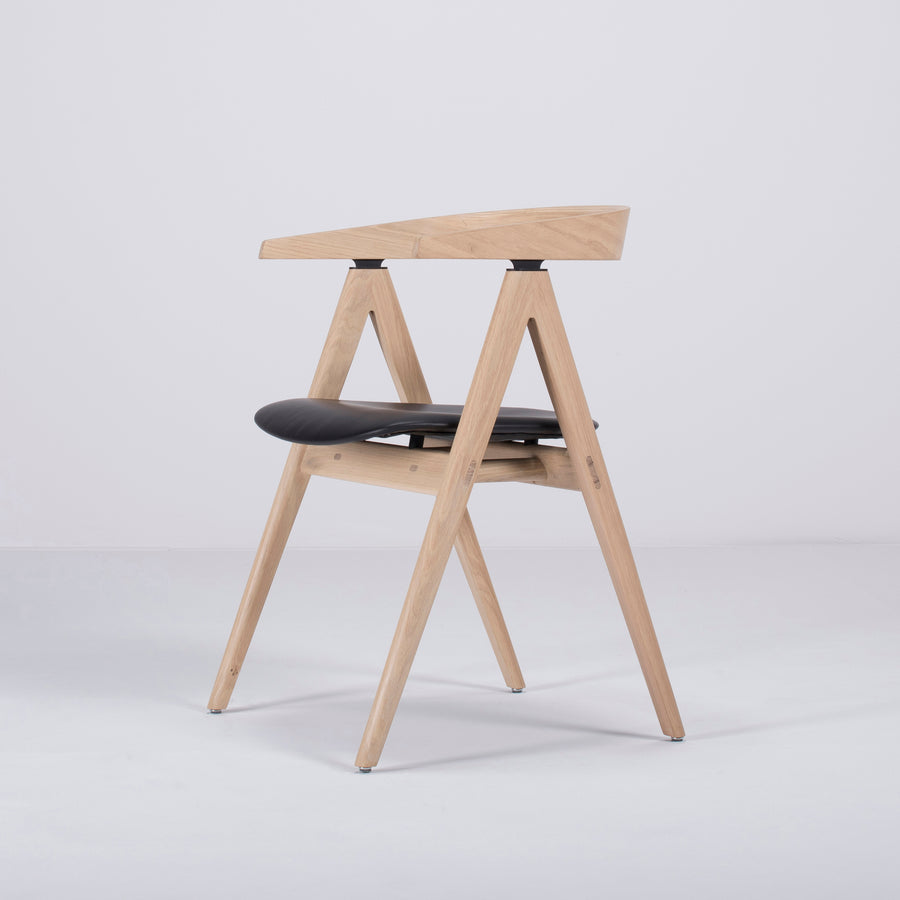 Gazzda Ava Chair in Whitened Oak, Profile turned
