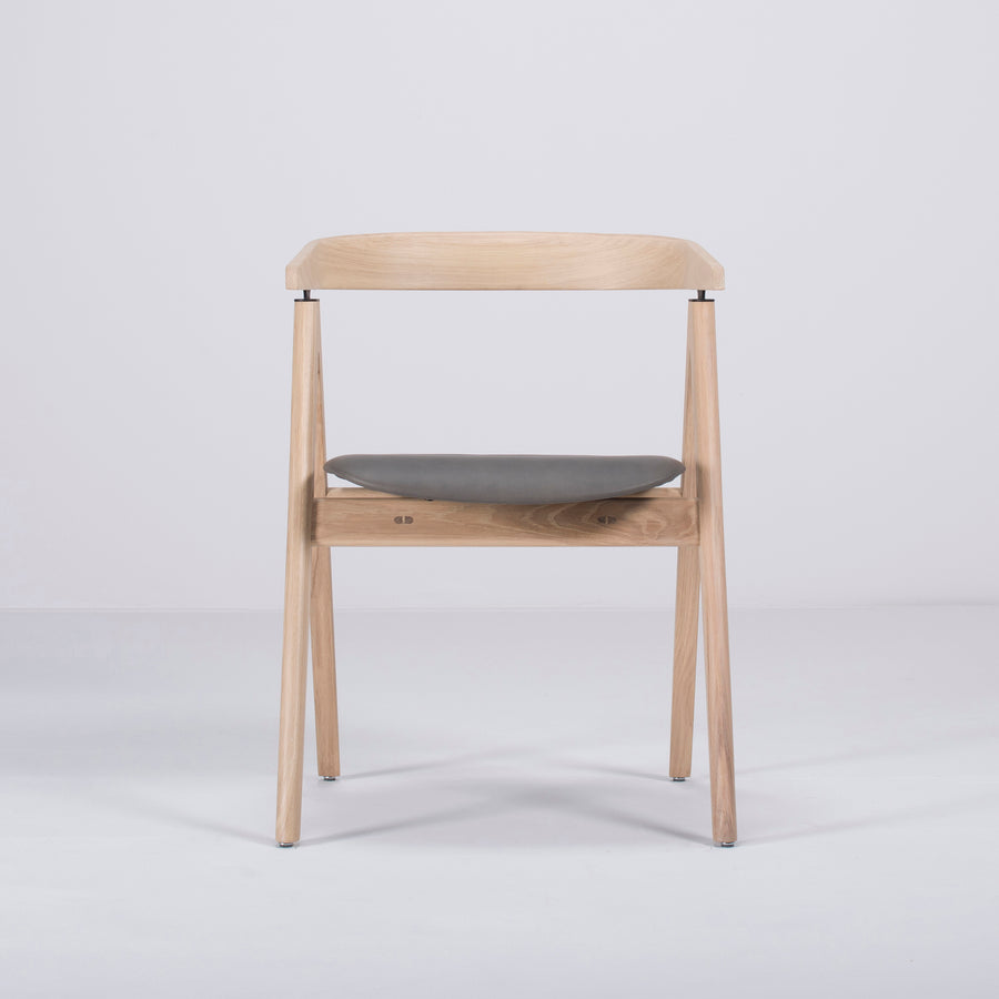 Gazzda Ava Chair in Whitened Oak, Front