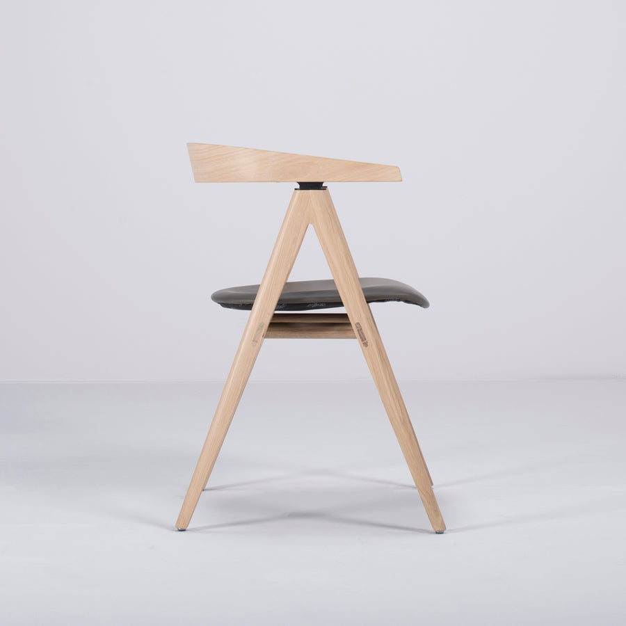 Gazzda Ava Chair in Whitened Oak, Profile