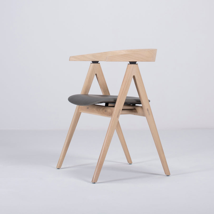 Gazzda Ava Chair in Whitened Oak, profile turned 2