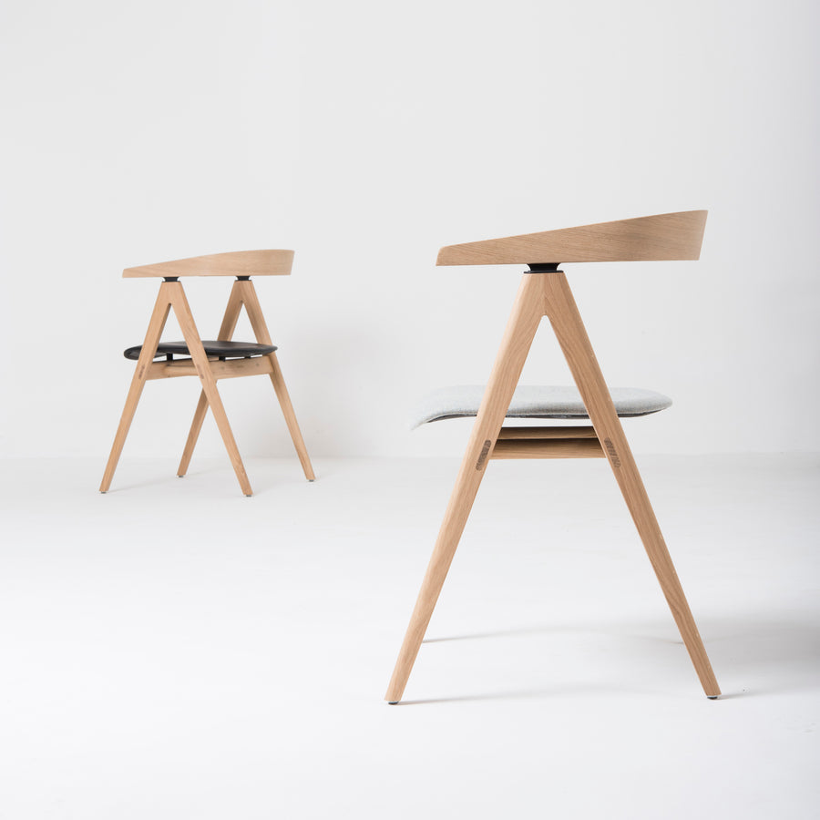 Gazzda Ava Chairs in Whitened Oak