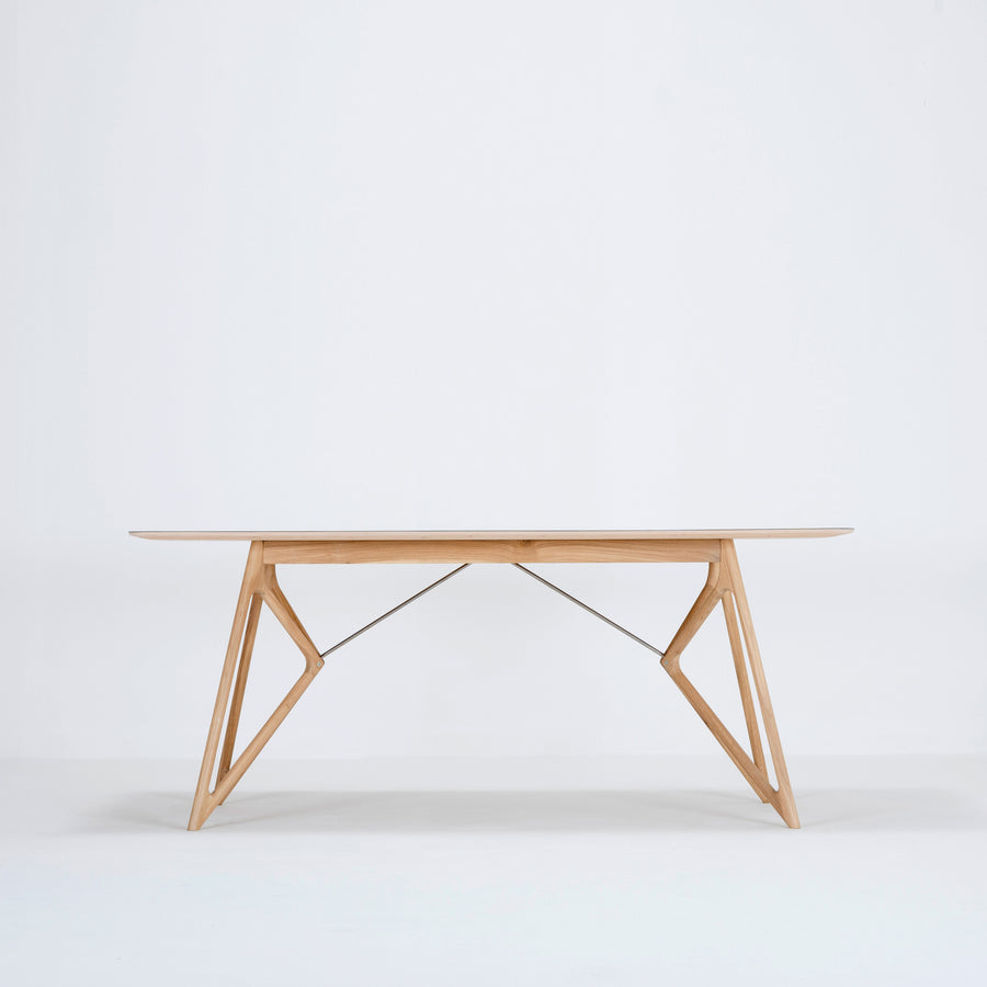 Gazzda Tink Table in solid Oak with Linoleum Top, 2