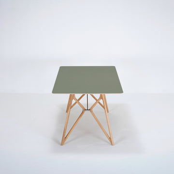 Gazzda Tink Table in solid Oak with Linoleum Top