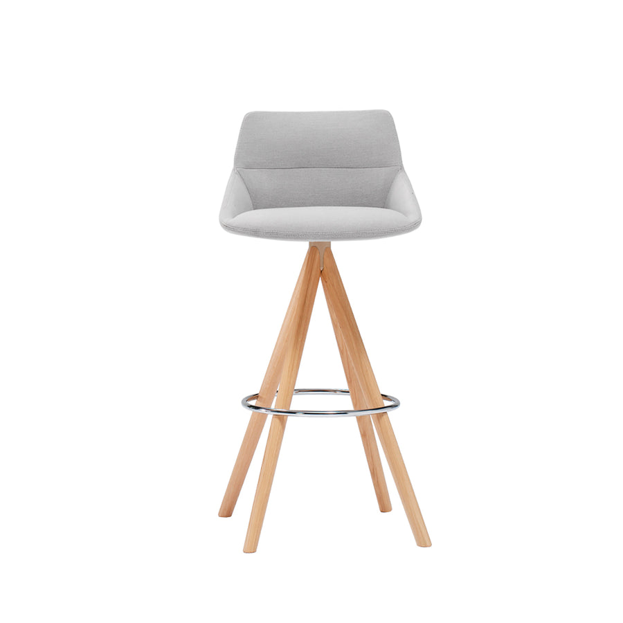 Inclass Dunas Stool With Wooden Swivel Base