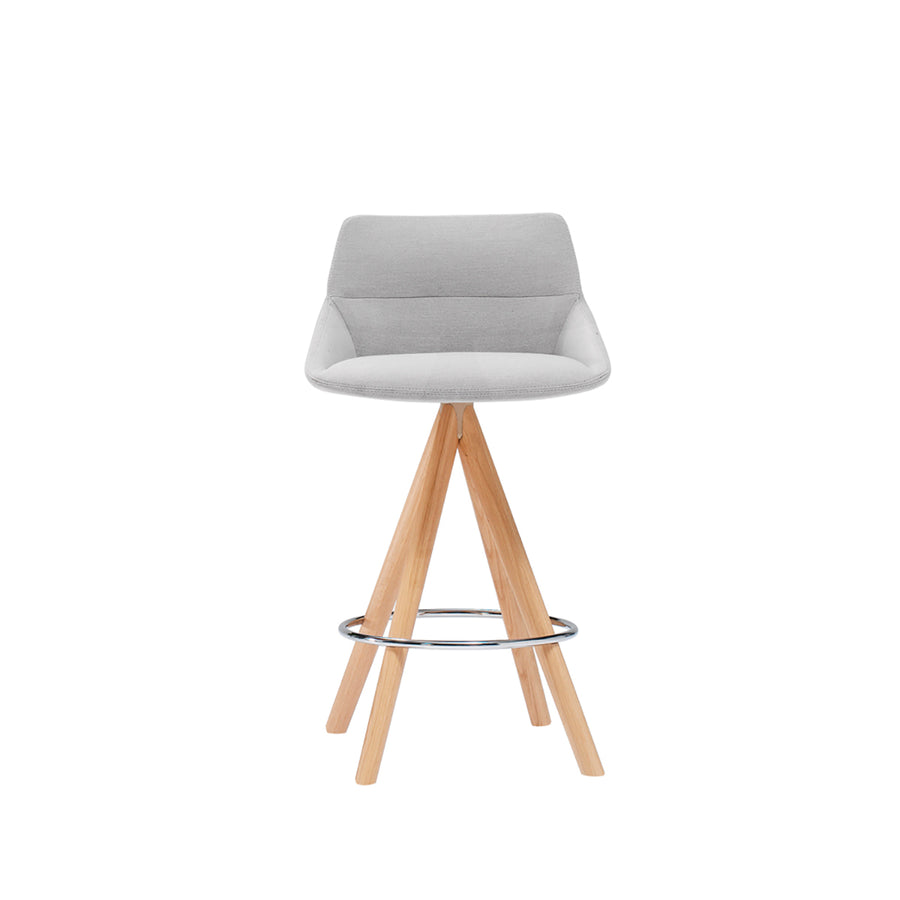 Inclass Dunas Stools With Wooden Swivel Base