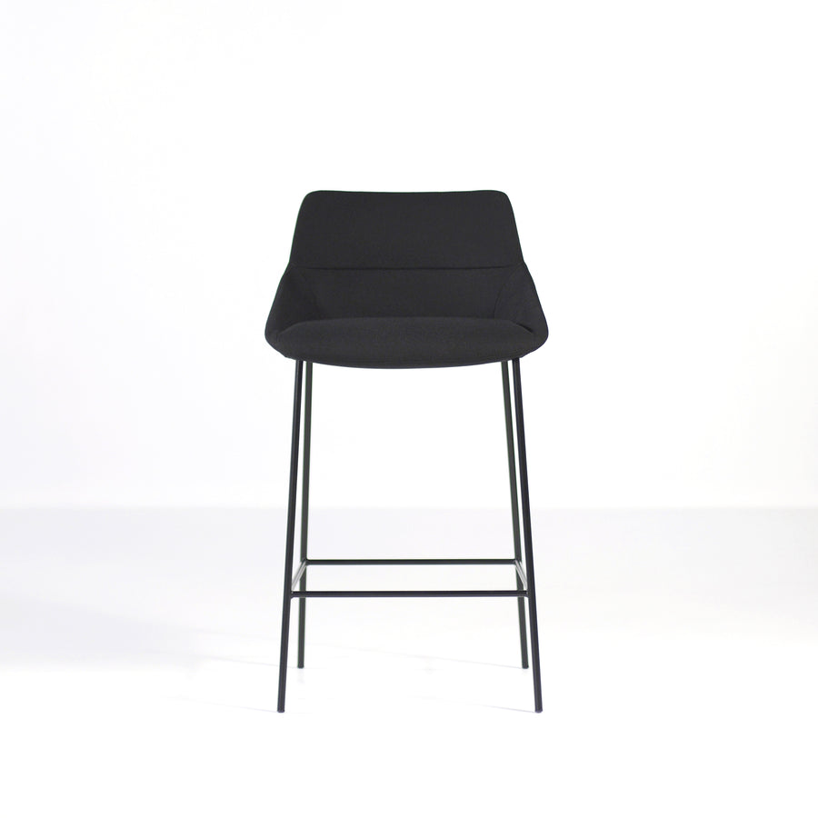 Inclass Dunas 4 Leg Stool, front, made in Spain, © Spencer Interiors Inc.