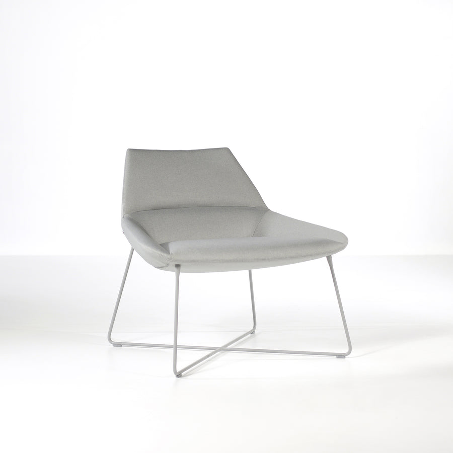 Inclass Dunas XL,  Low Back Rod Base Armchair, front turned, © Spencer interiors Inc.