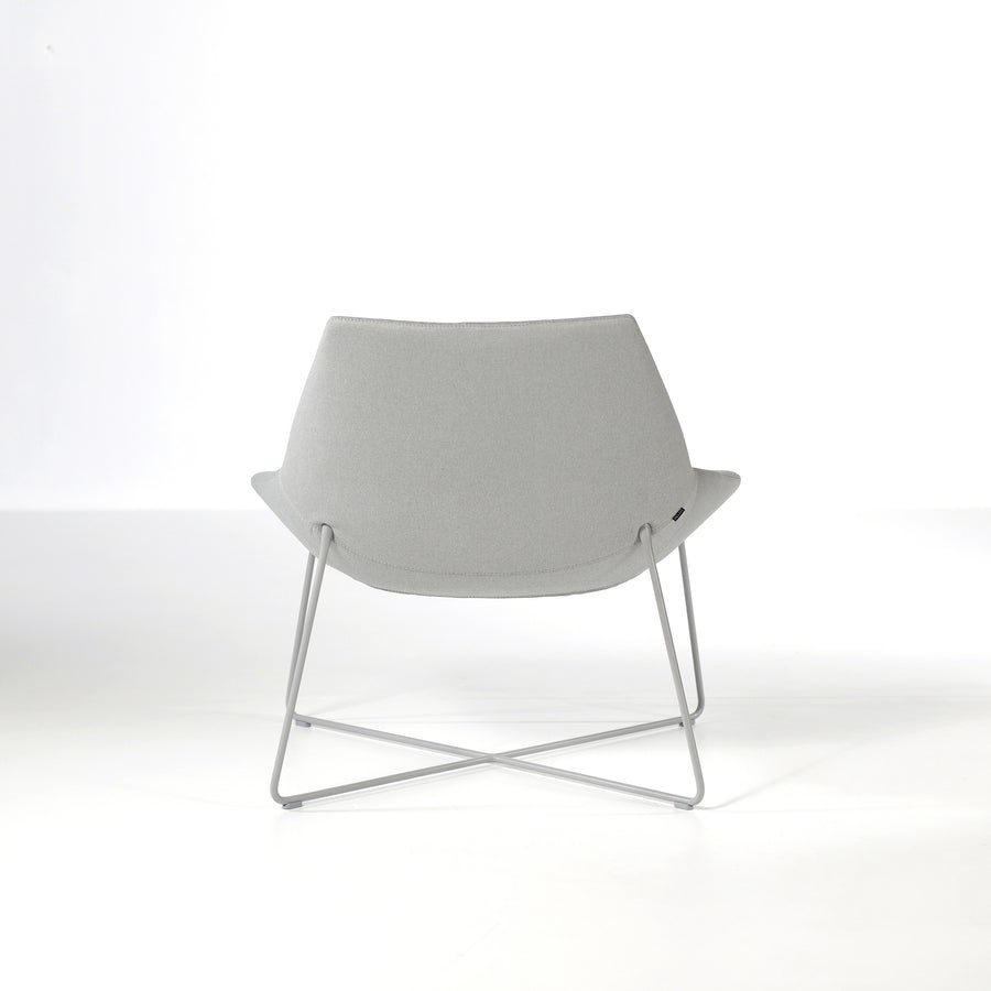 Inclass Dunas XL,  Low Back Rod Base Armchair, back, © Spencer interiors Inc.
