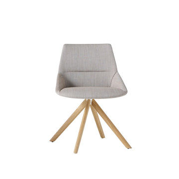 Dunas XS wood, swivel chair