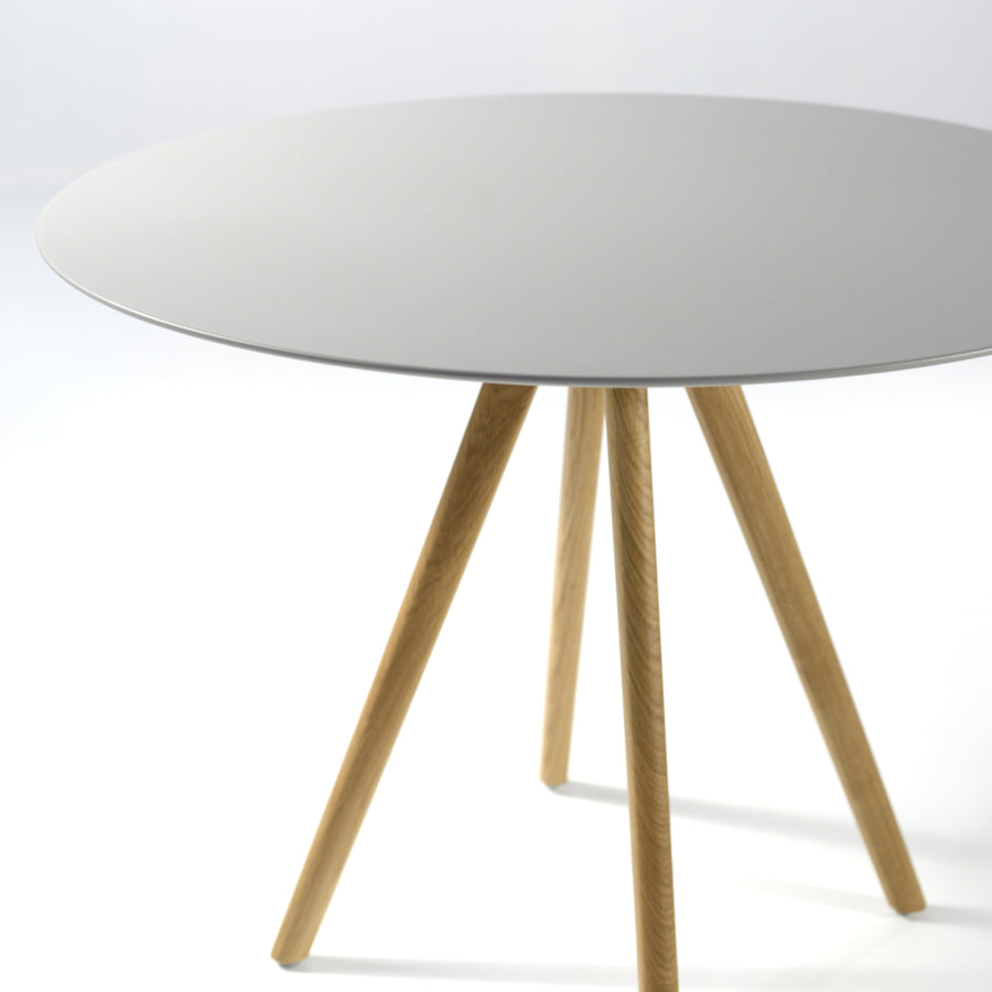 Inclass Stiks Round Table, Matt Lacquer Top 2, © Spencer Interiors Inc.