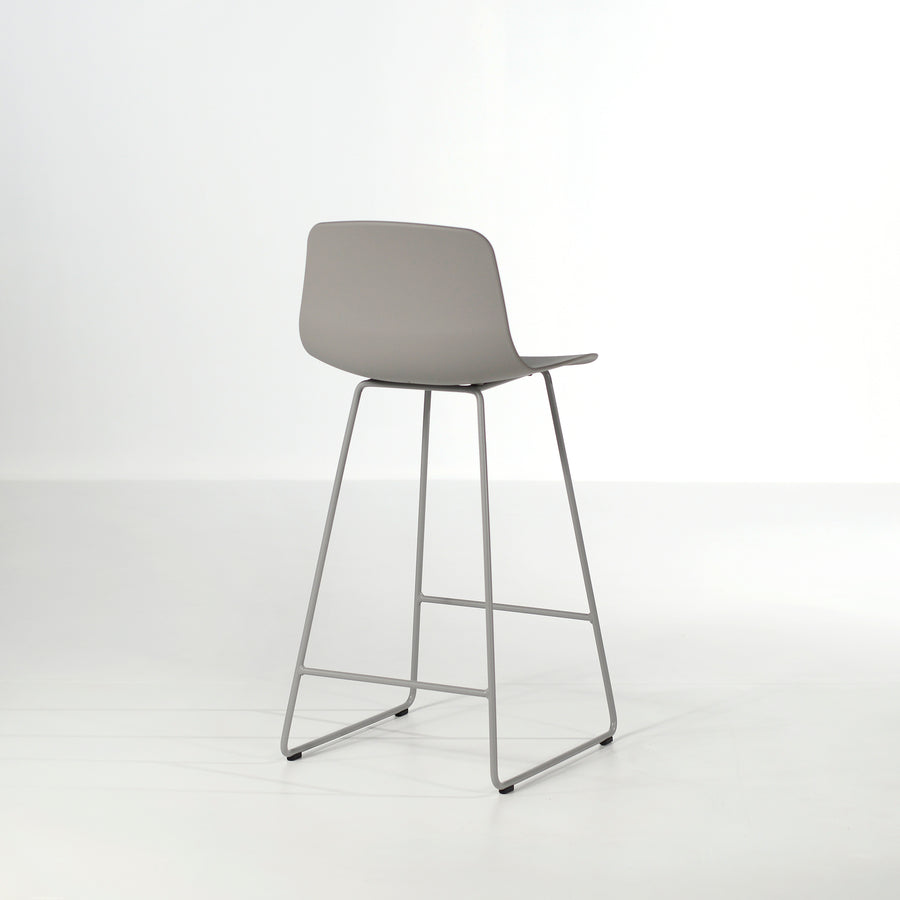 Inclass Varya Sled Base Stool, grey, made in Spain, © Spencer Interiors Inc.