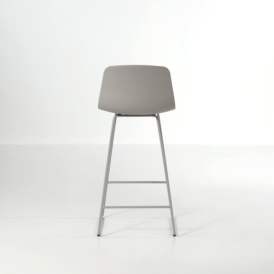 Inclass Varya Sled Base Stool, grey, back, made in Spain, © Spencer Interiors Inc.
