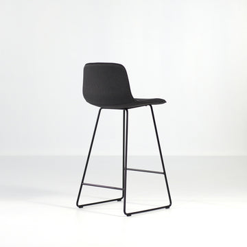 Inclass Varya Tapiz, Sled Base Stool, back turned, © Spencer Interiors Inc.