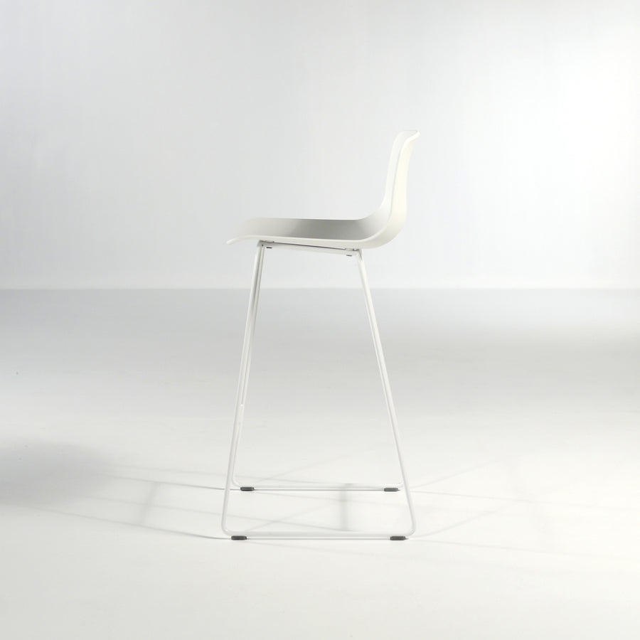 Inclass Varya Sled Base Stool, profile, made in Spain, © Spencer Interiors Inc.