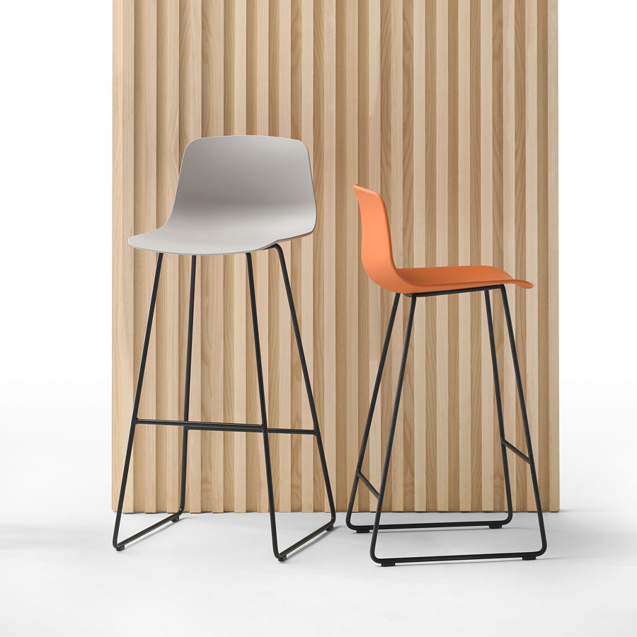 Inclass Varya Sled Base Stools, made in Spain