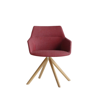 Dunas XS wood, swivel Armchair