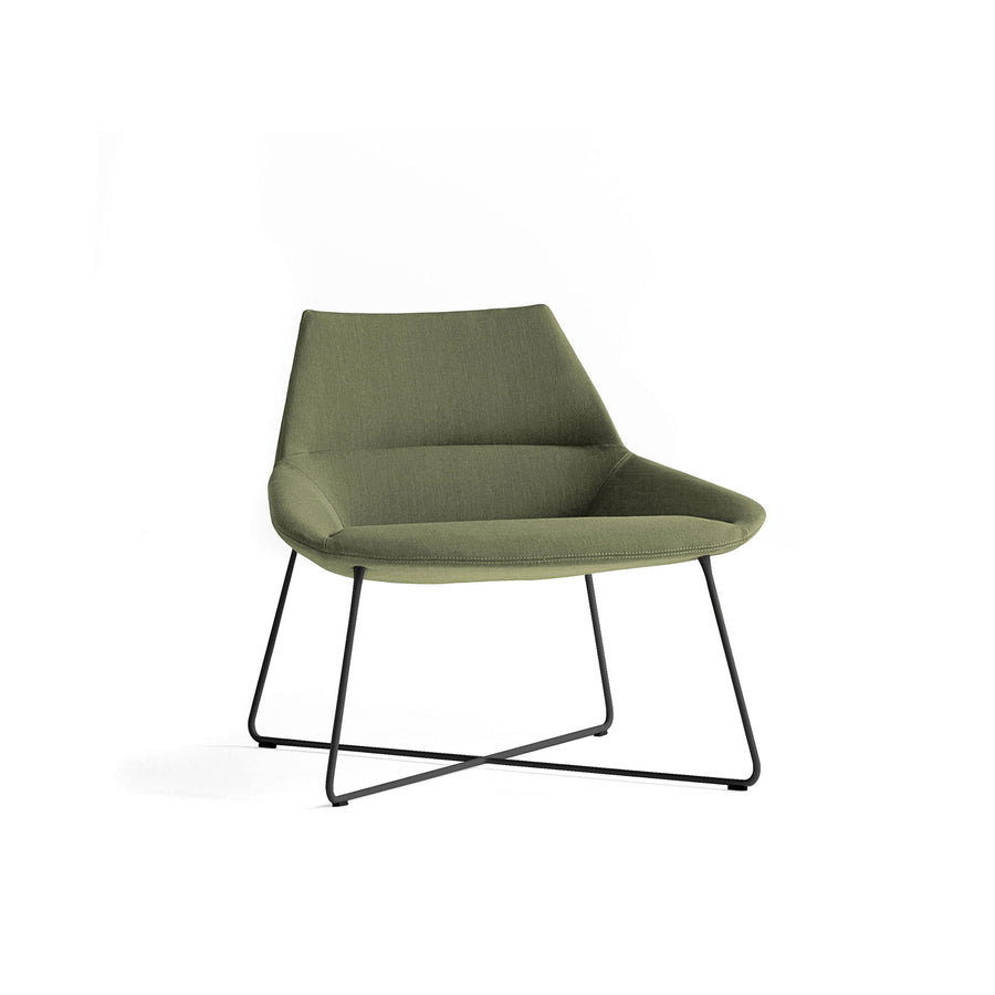Inclass Dunas XL,  Low Back Rod Base Armchair, front turned