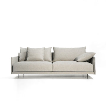 Joquer Senso Sofa 219, modern minimal seating in fabric Crevin Duo 50, © Spencer Interiors Inc.
