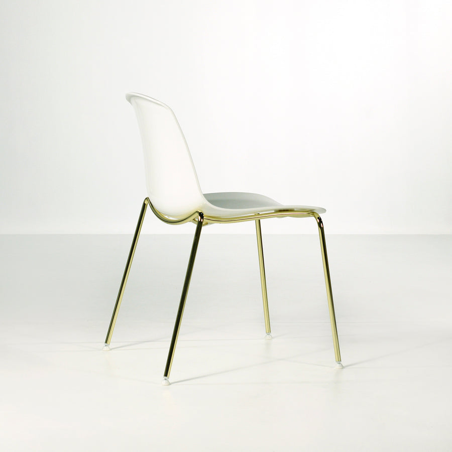 Luxy Italy, Special Edition Epoca Chair White, Brass 2, © Spencer Interiors Inc.
