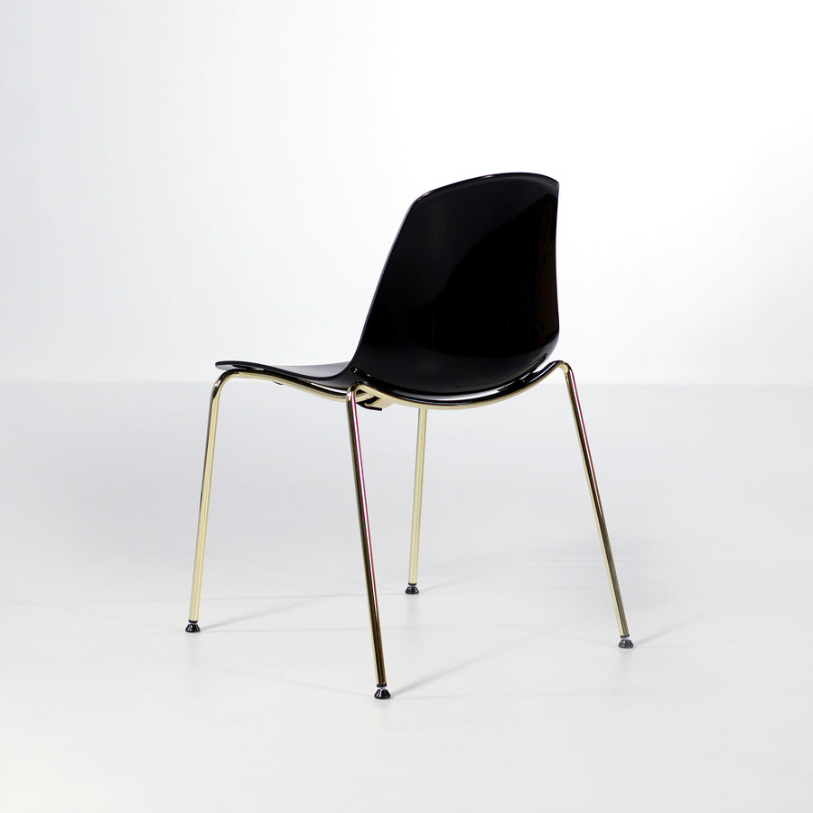 Luxy Italy, Special Edition Epoca Chair Black, Brass 3, © Spencer Interiors Inc.
