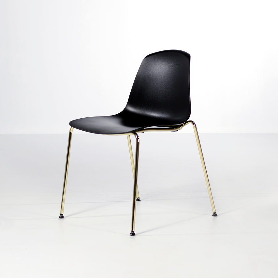 Luxy Italy, Special Edition Epoca Chair Black, Brass 5, © Spencer Interiors Inc.