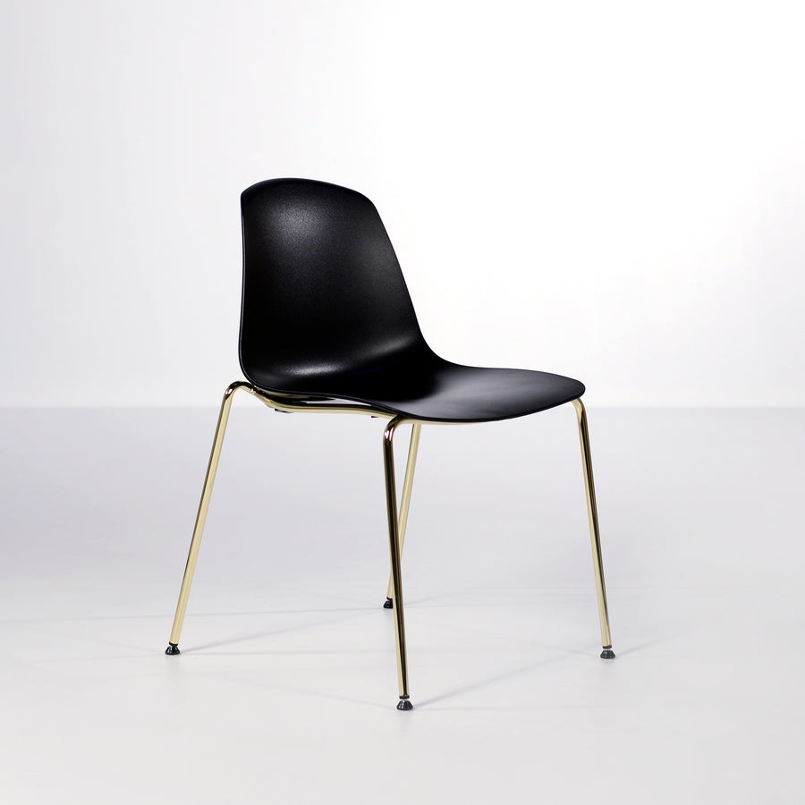 Luxy Italy, Special Edition Epoca Chair Black, Brass 4, © Spencer Interiors Inc.