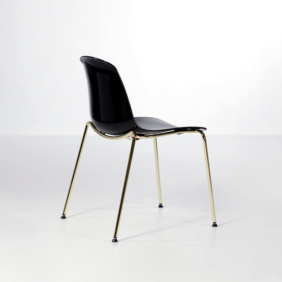 Luxy Italy, Special Edition Epoca Chair Black, Brass, © Spencer Interiors Inc.