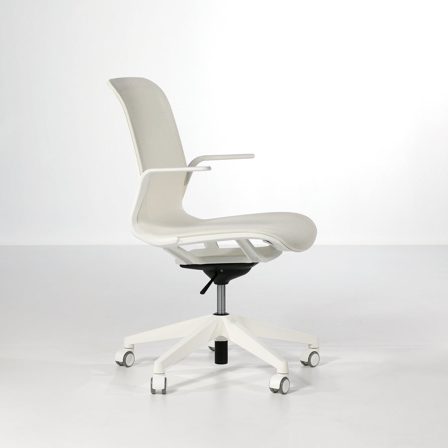 Luxy SmartLight Armchair in White, profile 2  - made in Italy, © Spencer Interiors Inc.