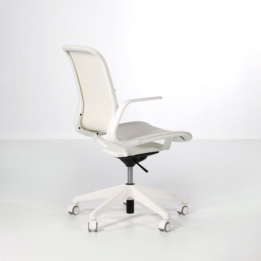 Luxy SmartLight Armchair in White, back turned - made in Italy, © Spencer Interiors Inc.