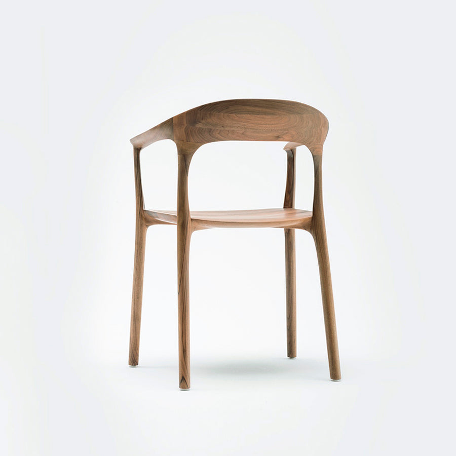 MS&Wood Elle Armchair in Solid Walnut, turned back | Spencer Interiors