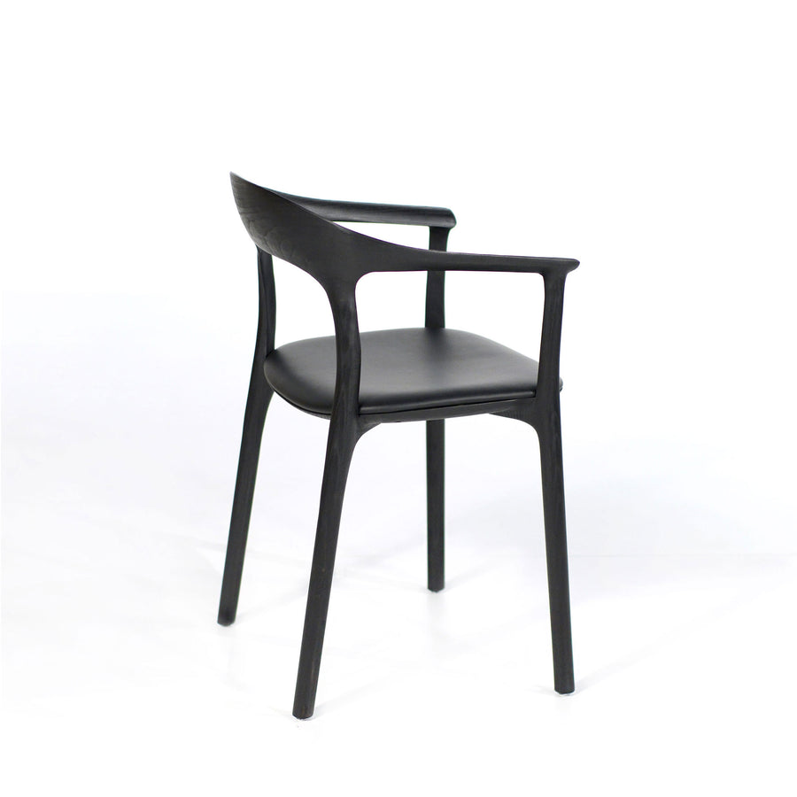 MS&Wood Elle Armchair in Solid Black Ash, turned back | © Spencer Interiors