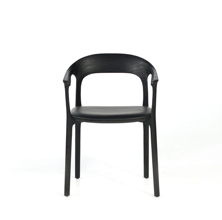MS&Wood Elle Armchair in Solid Black Ash, front | © Spencer Interiors