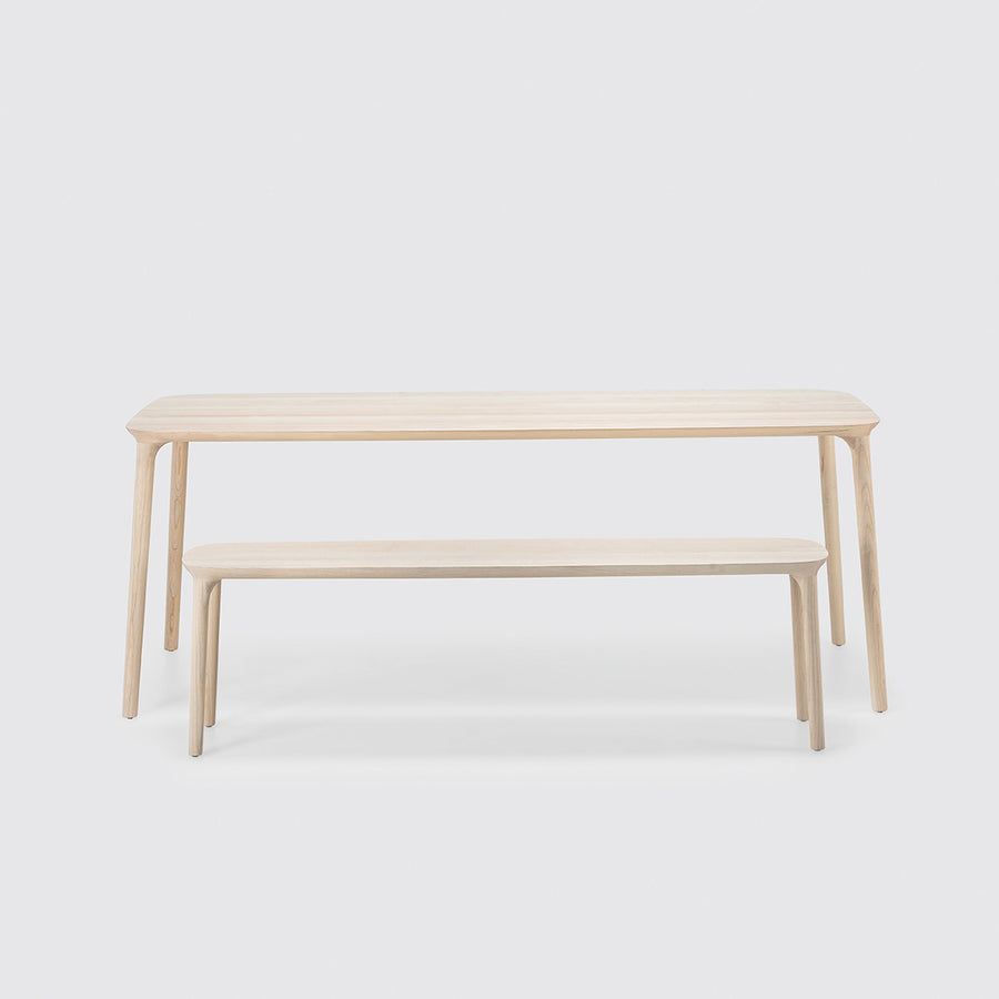 MS&Wood Elle Bench in solid wood with Elle Table | Spencer Interiors