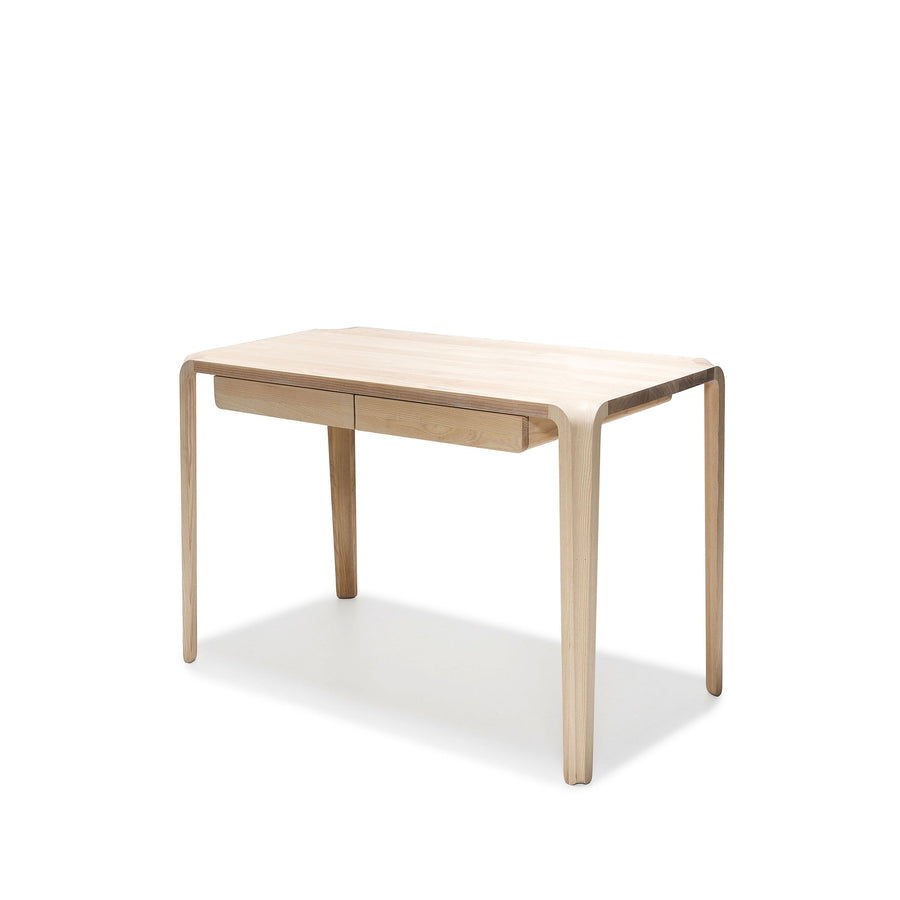 MS&Wood Primum Desk in solid wood, front turned | Spencer Interiors