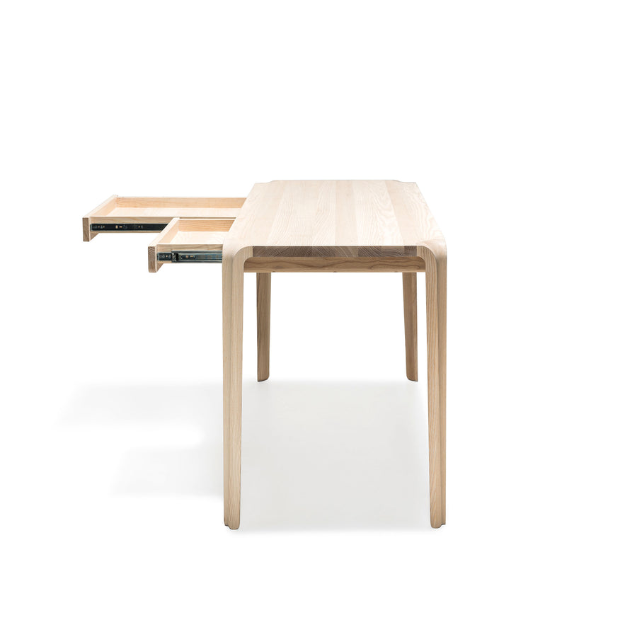 MS&Wood Primum Desk in solid wood, profile | Spencer Interiors